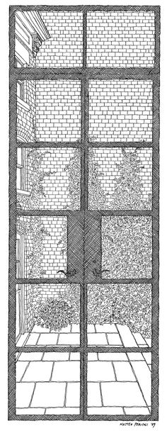 The City Out My Window: 63 Views on New York: Annie Leibovitz' view.   Architect Matteo Pericoli's metticulous illustrations reveal unique perspectives of the city through the windows of its residents.