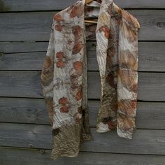 Silk scarf eco printed naturally dyed | Flickr - Photo Sharing!