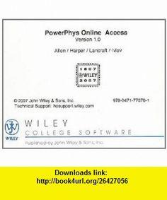 Password Card to access PowerPowerPhys (9780471770701) Connie Allen, Valerie Harper , ISBN-10: 0471770701  , ISBN-13: 978-0471770701 ,  , tutorials , pdf , ebook , torrent , downloads , rapidshare , filesonic , hotfile , megaupload , fileserve