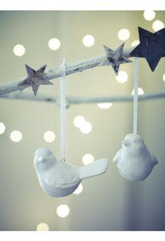 porcelain bird decorations
