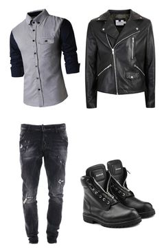 """""""Adarian"""" by midnight2678 ❤ liked on Polyvore featuring Dsquared2, Topman, Balmain, men's fashion and menswear"""