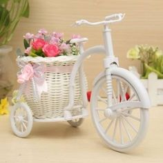 Large Rattan Tricycle Bike Flower Basket Vase Storage Party Decor *** Details can be found at http://www.amazon.com/gp/product/B0183WNXNM/?tag=fitnessztore-20&pab=100816202005