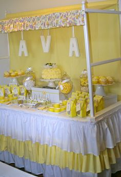 Yellow and white party by The Inspired Occasion