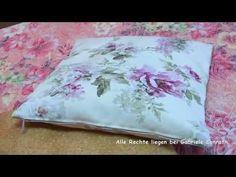 Kissenbezug mit Reißverschluss in 2 Versionen nähen - YouTube