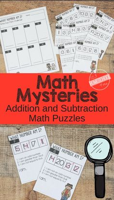 FREE Math Mysteries - FUN Addition and Subtraction Math Problems - these free printable math word problems make it fun for kindergarten, first grade, 2nd grade, 3rd grade, and 4th grade students to practice math. #mathpractice