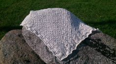 Warm and fuzzy mohair lace shawl. Handmade. by MadeByKirsti