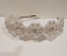 Bridal Floral Rhinestone Headpiece FOTINI by BellaCescaBoutique, $42.50
