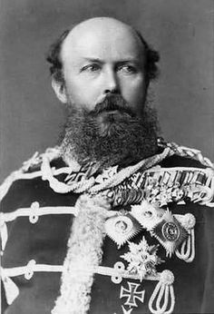 His Royal Highness Prince Friedrich Karl of Prussia (1828–1885) was a son of Prince Charles of Prussia and his wife, Princess Marie of Saxe-Weimar-Eisenach.  He was a career military officer.  He married Princess Maria Anna of Anhalt-Dessau and they had five children.