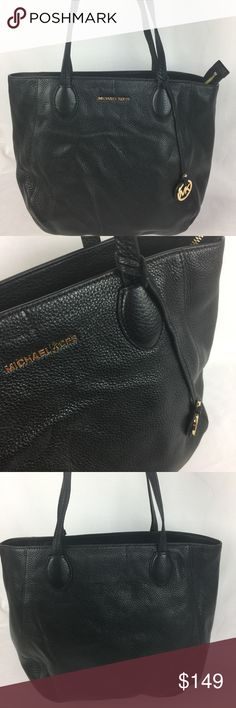 "Michael Kors Ani North South Top Zip Leather Tote Condition: New, no tag. Never Used. Includes original care card.  Michael Kors' zip tote pairs rich, supple leather with minimalist gleams of shiny hardware to give you quintessential sleek everyday style. 15-1/2""W x 12-1/2""H x 5-1/2""D Interior features lining, 1 zip pocket, 4 utility pockets and 1 key clip 10-1/2""L double handles Zip closure Exterior features gold-tone hardware, logo and logo charm.   Thank you for your interest! No trades…"