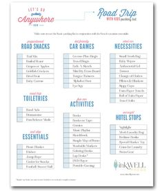 Road Trip Tips Reduce The Stress In Preparing Use This Free Printable Road Trip Checklist