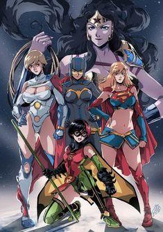 Superheroínas de cómics estilo anime.