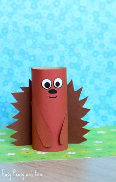 Paper Roll Hedgehog Craft for Kids