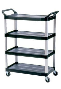 Service Cart with 4 shelves: Mobile cart with 4 shelves