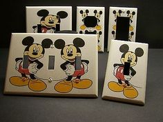 MICKEY MOUSE HANDS ON HIPS JUST SO CUTE LIGHT SWITCH OR OUTLET COVER V002