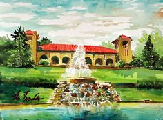 Check out this painting of St. Louis' own Forest Park Pavilion painted by artist Marilynne Bradley, who will be at booth #607 at this year's ArtandAir from June 1-3!