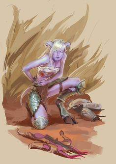 Draenei Hunter by lynadeathshaow.deviantart.com on @DeviantArt