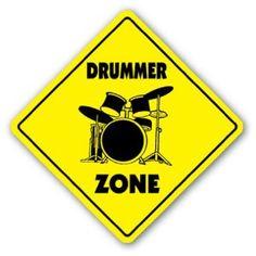 DRUMMER ZONE Sign drum sticks musician band gift