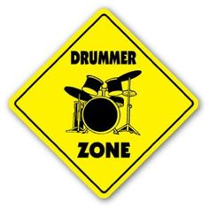 DRUMMER ZONE Sign drum sticks musician band gift