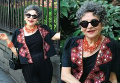 Isn't she just adorable! My newly found obsession with Advanced aged ladies with great style!