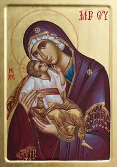 Byzantine Icons, Byzantine Art, Our Lady Of Rosary, Syrian Christians, Blessed Mother Mary, Egg Art, Religious Icons, Orthodox Icons, Madonna