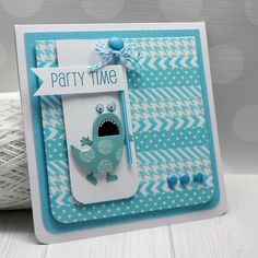 Papered Cottage by Shellye McDaniel: Doodlebug Swimming Pool Color Challenge Cool Cards, Diy Cards, Scrapbook Paper Crafts, Scrapbook Layouts, Scrapbooking, Pool Colors, Washi Tape Cards, Homemade Birthday Cards, Monster Cards