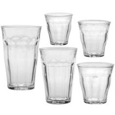 """the """"original French tumblers"""", the tempered Picardie glasses are functional and stylish--tempered glass and are free of lead and BPA. Perfect for the little ones!"""