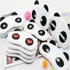 Panda máscara de olho sombra capa blindfold viagem de lazer bonito dormir máscara de olho eyeshade eyepatch alishoppbrasil