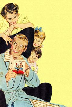 Happy Father's Day! ~ Gibson Card Co. ad, 1953.
