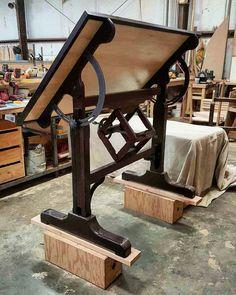 Birds eye maple & wenge draft table   #Wood #MCohenAndSons #DraftTable #WoodWork #MCohen #Project #WorkShop