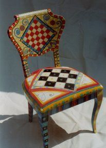 Untitled Album - pam - Picasa Web Albums This would be nice with a canvas cushioned seat. Hand Painted Chairs, Whimsical Painted Furniture, Hand Painted Furniture, Funky Furniture, Colorful Furniture, Art Furniture, Repurposed Furniture, Unique Furniture, Furniture Makeover