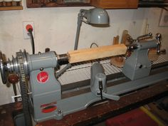 "1930's Wood Lathe  Model 950 (930 w/ stand package)  11"" x 39"" (lathe later modified to 14"")"