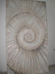 strukturpaste für acrylmalerei   Acryl Gemaelde Ammonit Schnecke 180 cm x 100 cm…