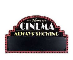 Hobby Crafts & Decor - Black Home Cinema Chalkboard