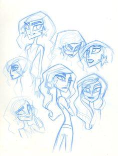 Lauren Faust character sketches for Super Best Friends Forever: Wonder Girl