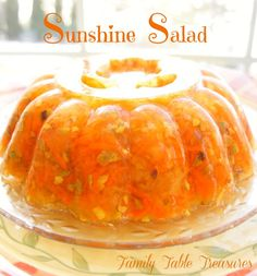 Lemon flavored gelatin filled with crushed pineapple, shredded carrots and chopped pistachios makes this Sunshine Salad a great addition to any buffet. You may start with a small serving as a side to go with your meal and then find yourself going back for seconds as dessert! This delicious jello mold brings back fond memories …