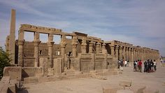 ASWAN, EGYPT - Temple of Isis on Philae I. - Western colon… | Flickr