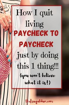 Are you tired of living paycheck to paycheck? Are you ready to take charge of your money? You won't believe what I do everyday to save more money! #howtosavemoney #savemoneyfast