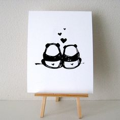 panda love / i could bum with you forever part of my new digital art collection! let me know what you think. :)