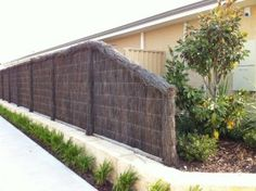 Brushwood Fencing- Make your home more attractive with Brushwood Fencing which is created by natural materials. Chain Fence, Fencing Material, Natural Materials, Fences, Teamwork, Outdoor Furniture, Outdoor Decor, Perth, Outdoor Living