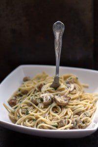 Creamy Spaghetti with Mushrooms