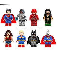 Wholesale Building Block 100pcs/set Super Man The Flash Aquaman DC Marvel Super Hero Avengers Bricks Kids DIY Toys Gifts