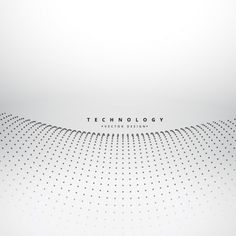 Wavy background made with dots Free Vector