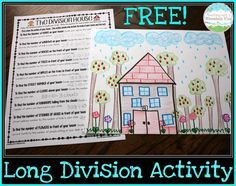 Teaching Long Division on Pinterest | Long Division, Division and Math