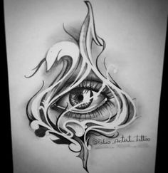 Eye Sketch Tattoo Artists 22 Ideas For 2019 Skull Tattoos, Body Art Tattoos, Sleeve Tattoos, Eye Tattoos, Tattoo P, Yakuza Tattoo, Tattoo Sketches, Tattoo Drawings, All Seeing Eye Tattoo