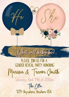 Gender Reveal Party Baby shower gender reveal party ideas girl or boy old wives . Gender Reveal Party Baby shower gender reveal party ideas girl or boy old wives … – Fashionhome Gender Reveal Themes, Gender Reveal Balloons, Gender Reveal Party Invitations, Gender Reveal Party Decorations, Unique Gender Reveal Ideas, Baby Reveal Ideas, Twin Gender Reveal, Gender Reveal Pinata, Invitation Ideas
