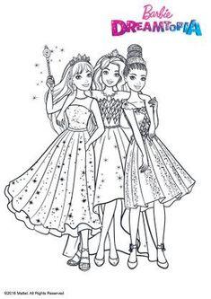 Coloriage Princesse au Royaume des Paillettes - Coloriage Barbie Dreamtopia - Coloriages Dessins animes Mermaid Coloring Book, Barbie Coloring Pages, Princess Coloring Pages, Colouring Pages, Coloring Books, Barbie Colouring, Happy Birthday Doodles, Barbie Drawing, Sarra Art
