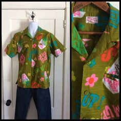 A personal favorite from my Etsy shop https://www.etsy.com/listing/226821713/vintage-1960s-hawaiian-suck-em-up-party