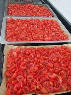 Ingredientes : 2 Kg de Tomates Cherry Tomillo Romero Sal Aceite de Oliva Dientes de Ajo Preparación : Lavamos bien los tomates, los secam...