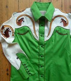 Rockmount+Men's+Gene+Autry+Shirt-2+COLORS+-green