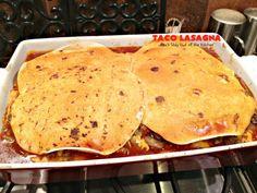 Taco Lasagna - Can't Stay Out of the Kitchen Homemade Guacamole, Homemade Salsa, Homemade Taco Seasoning, Mexican Lasagna Recipes, Taco Lasagna, Beef Sauce, Company Dinner, Traditional Lasagna, Taco Bake